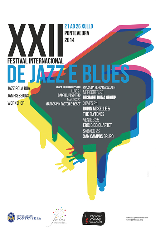CARTEL FESTIVAL JAZZ Y BLUES PONTEVEDRA 2014