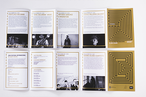CARTEL FESTIVAL DE JAZZ 2016 FOLLETO INTERIOR